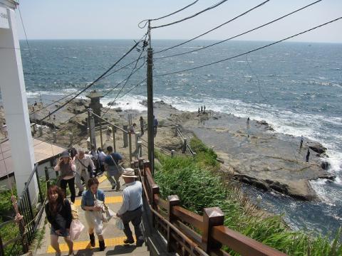 江ノ島から見える水平線
